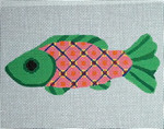 "Ann Wheat Pace 401C FISH 18 Mesh 6"" x 2.5"" Green"