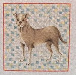 "Ann Wheat Pace 460A Grey Dog 18 Mesh 6"" x 6"""