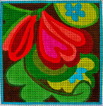 """Ann Wheat Pace 551H  5""""x 5"""" 18 Mesh Loopy Flower"""