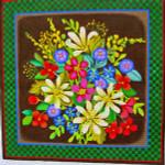 "Ann Wheat Pace 725 Woodland Garden 16,'x 16.5"" 13 Mesh Spring Flowers"