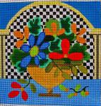 """Ann Wheat Pace 560A 5.25"""" x 5.25"""" 18 Mesh Classic Floral"""