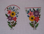 """Ann Wheat Pace 610A 6.5""""'x 4.5"""" 18 Mesh Mixed Floral SCISSOR CASE"""