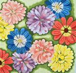 """Ann Wheat Pace 711 Flora 18 Mesh 14"""" x 14"""""""
