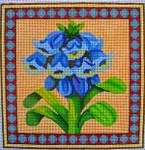 "Ann Wheat Pace 715C 13 Mesh 7"" x 7"" Winter Flowers"