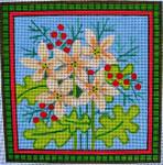 """Ann Wheat Pace 715D 13 Mesh 7"""" x 7"""" Spring Flowers"""