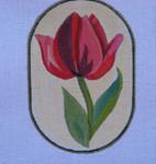 "Ann Wheat Pace 718B 18 Mesh Red Flowers 4.25"" x 6.25""  Tulip"