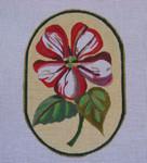 "Ann Wheat Pace 718C 18 Mesh Red Flowers 4.25"" x 6.25"" Petunia"