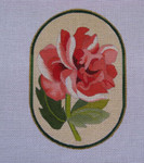 """Ann Wheat Pace 718D 18 Mesh Red Flowers 4.25"""" x 6.25"""" Peony"""