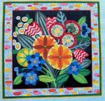 """Ann Wheat Pace 730 18 Mesh Mixed Flora 12"""" x 12"""""""