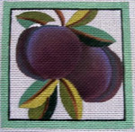 "Ann Wheat Pace 735C  4"" x 4"" Plum  COASTER 18 Mesh"
