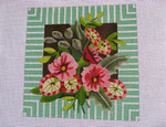 """Ann Wheat Pace 740B 18 Mesh Amelia Floral 12"""" x 12"""""""