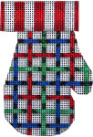 CT-1851 Mitten Tattersall Red/Blue/Green Associated Talents
