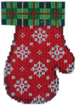 CT-1861 Plaid/Snowflakes Mitten Associated Talents
