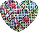HE-828 Diagonal Woven Ribbons Heart Associated Talents