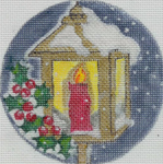 """H206 Melissa Prince 4,25"""" round lantern holly Includes Stitch Guide"""