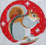"H233 Melissa Prince 4"" squirrel ornament"