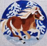 "H232 Melissa Prince 4"" Horse ornament"