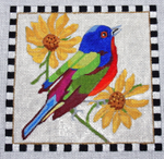 B318 Melissa Prince Painted Bunting 6 x 6 13 Count