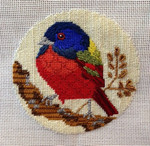 """B325 Melissa Prince 4"""" round Painted Bunting"""