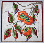 F442 Melissa Prince 10 x 10 Persimmons