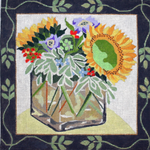 F443 Melissa Prince 10 x 10 Sunflowers in Vase