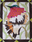B329 Melissa Prince Ruby Throated Hummingbird 6 x 8