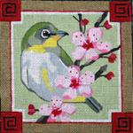 B335 Melissa Prince 6 x 6 Mejiro Bird