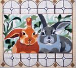 B337 Melissa Prince 10 x 9 Garden Rabbits