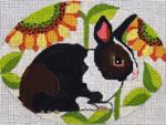 "B341 Melissa Prince 4"" x 5"" Sunflower Bunny"