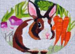"B342 Melissa Prince 4"" x 5"" Vegetables Bunny"