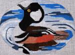 B363 Melissa Prince 5 x 4 oval Merganser Duck