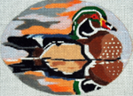 B364 Melissa Prince 5 x 4 Oval Wood Duck
