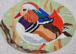 B367 Melissa Prince 5 x 4 Oval Mandarin Duck