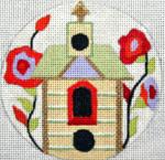 """A135 Melissa Prince 4"""" Round Garden Birdhouse"""