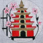 "A136 Melissa Prince 4"" Round Pagoda Birdhouse"