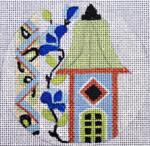 "A137 Melissa Prince  4"" Round  Paisley Birdhouse"
