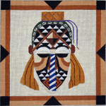 A140 Melissa Prince 11 x 11 African Mask 2