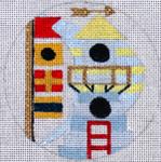"A168 Melissa Prince 4"" Round  Nautical Birdhouse"