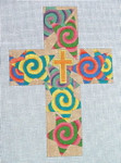"Ann Wheat Pace 101AC Large Cross 18 Mesh 6.75""x 9""  Spiral Stars With Stitch Guide"