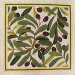 Ann Wheat Pace 720 13 Mesh Olives 14 x 14