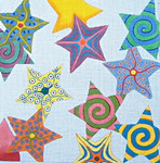 Ann Wheat Pace 311 Metallic Stars 18 Mesh 12 x 12 Multi Stars