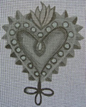 "Ann Wheat Pace 256C Sacred Heart 5"" x 6.5"" Loops With Stitch Guide And Bead Kit"