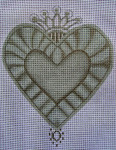 "Ann Wheat Pace 256B Sacred Heart 5"" x 6.5"" Crown With Stitch Guide And Bead Kit"