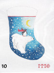 "10MM Designs Mini Stocking 4"" x 6"" Polar Bear"