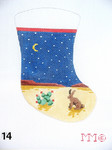 "14 MM Designs Mini Stocking 4"" x 6""  Jack Rabbit/ Desert Night"