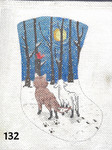 "132 MM Designs Mini Stocking 4"" x 6"" Fox & Lamb Looking at Moon Togethe"