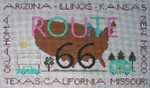 Ewe And Ewe EWE-495 Route 66 Little House Needleworks 10 1/2 x 6 18 Mesh