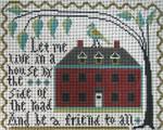 Ewe And Ewe EWE-498 Big Red House La-D-Da 9 1/4 x 7 1/4  13 Mesh