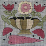 Ewe And Ewe EW-1093 Donna 5 x 5 18 Mesh Flowers In A Vase