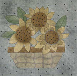 Ewe And Ewe EW-1096 Jessica  7 x 7 18 Mesh Sunflowers
